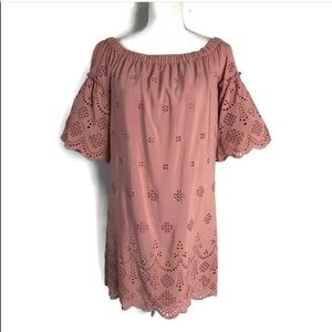 Madewell Pink eyelet dress